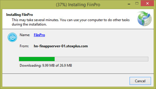 Picture of Installation: Installing FiinPro